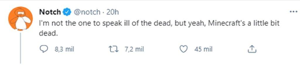 Minecraft muerto