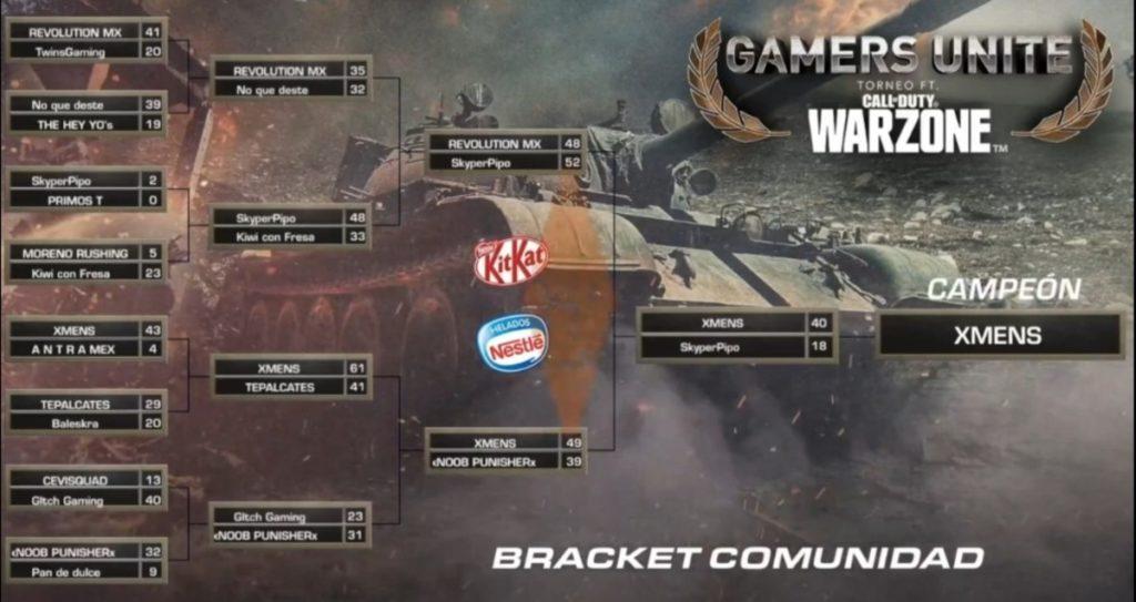 Torneo Gamers Unite fr CoD Warzone Ganador